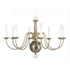 Livex Lighting Williamsburg Antique Brass Chandelier