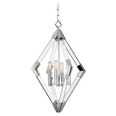 Mid-Century Modern Pendant Light Polished Nickel Lyons by Hudson Valley Lighting