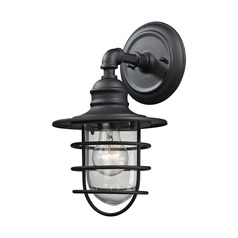 Elk Lighting Vandon Textured Matte Black Outdoor Wall Light
