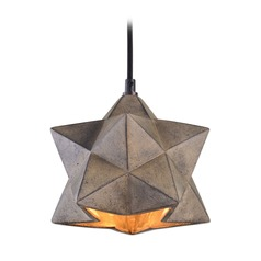 Uttermost Rocher 1 Light Geometric Pendant