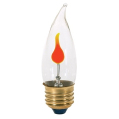 Flicker Flame Medium Base Light Bulb - 3-Watt