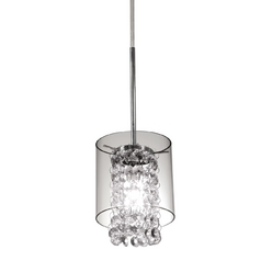 Bazz Lighting Chrome Mini-Pendant with Glass Beads PR3811CB