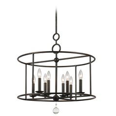 Crystorama Lighting Cameron English Bronze Pendant Light