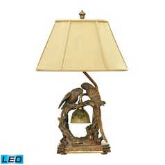 Dimond Lighting Atlanta Bronze LED Table Lamp with Hexagon Shade