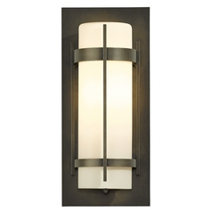 Hubbardton Forge Lighting Banded Natural Iron Outdoor Wall Light