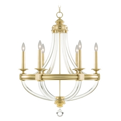 Fine Art Lamps Grosvenor Square Antique Hand-Rubbed Solid Brass Chandelier