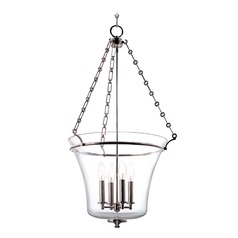 Hudson Valley Lighting Eaton Historic Nickel Pendant Light with Bowl / Dome Shade