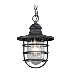 Elk Lighting Vandon Textured Matte Black Outdoor Hanging Light