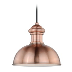 Franklin Outer Copper, Inner White Outdoor Hanging Light by Vaxcel Lighting