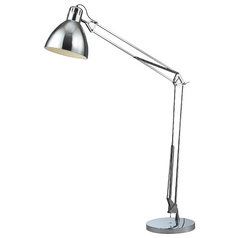 Modern Swing Arm Lamp in Chrome Finish