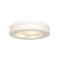 Modern Flushmount Light with White Glass in White Finish