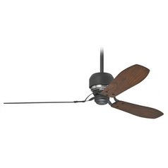 Ceiling Fan with Light in Graphite Black Finish