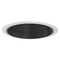 Stepped Black Baffle Trim for 6-Inch Recessed Housings