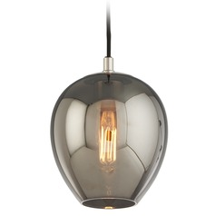 Troy Lighting Carbide Black and Polished Nickel Mini-Pendant Light