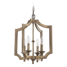 Jeremiah Lighting Lisbon Legacy Brass Pendant Light
