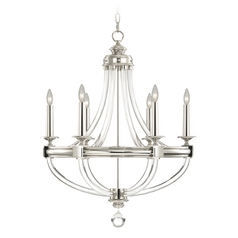 Fine Art Lamps Grosvenor Square Nickel Plated Chandelier