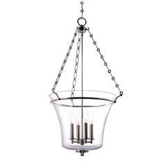 Hudson Valley Lighting Eaton Polished Nickel Pendant Light with Bowl / Dome Shade