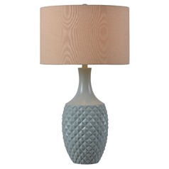 Kenroy Home Anaya Green Teal Table Lamp with Drum Shade