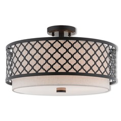 Livex Lighting Arabesque English Bronze Semi-Flushmount Light