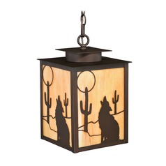 Calexico Burnished Bronze Outdoor Hanging Light by Vaxcel Lighting
