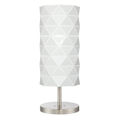 Lite Source Pandora Brushed Nickel Table Lamp with Globe Shade