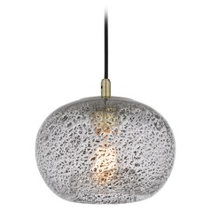 Industrial Mini-Pendant Light Brass Quoizel Piccolo Pendant by Quoizel Lighting