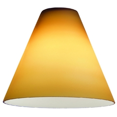 Amber Conical Glass Shade - 1-7/8-Inch Fitter Opening