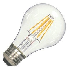 Vintage Style Carbon Filament LED A19 Light Bulb 2700K 120V 60-Watt Equiv Dimmable by Satco