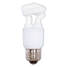 Satco Lighting 5-watt Spiral Compact Fluorescent Light Bulb in Warm White S7261