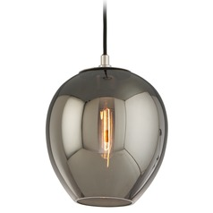 Troy Lighting Odyssey Carbide Black and Polished Nickel Mini-Pendant Light