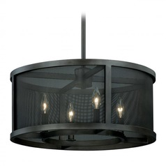 Vaxcel Wicker Park Warm Pewter Pendant Light