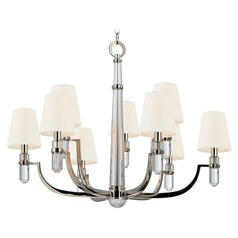 Dayton 9 Light 2-Tier Chandelier - Polished Nickel