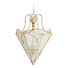 Quorum Lighting Quorum Lighting Salento Persian White Pendant Light with Triangle Shade 6806-4-70