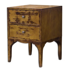 Uttermost Mahogany Vatia Side Table
