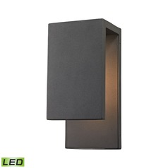 Elk Lighting Pierre Textured Matte Black LED Outdoor Wall Light