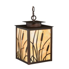 Bulrush Burnished Bronze Outdoor Hanging Light by Vaxcel Lighting