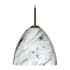 Besa Lighting Sasha Bronze Mini-Pendant Light