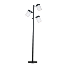 Modern Floor Lamp with White Glass in Oil Rubbed Bronze Finish