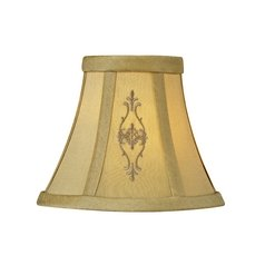 Beige Empire Lamp Shade with Clip-On Assembly