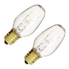 Satco Lighting 7-watt C7 Incandescent Light Bulb - 2 Pack SC S3791