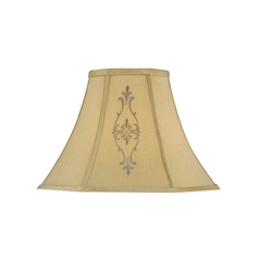 Beige Empire Lamp Shade with Spider Assembly