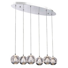 Chrome LED Multi-Light Pendant with 6-Lights