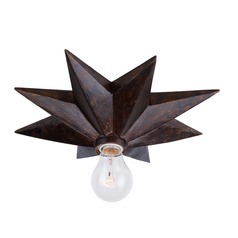 Crystorama Lighting Astro English Bronze Flushmount Light