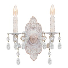 Crystorama Lighting Paris Market Antique White Sconce