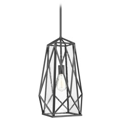 Marque Graphite Pendant Light with Rectangle Shade by Progress Lighting