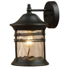 Elk Lighting Outdoor Wall Light with Clear Glass in Matte Black Finish 08162-MBG