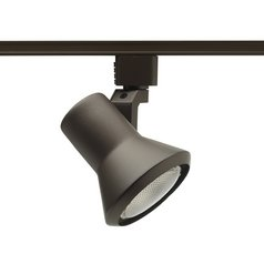 Modern Track Light Head in Bronze Finish