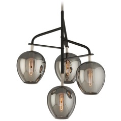 Troy Lighting Odyssey Carbide Black and Polished Nickel Pendant Light