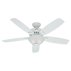 Hunter Fan Company Banyan Snow White Ceiling Fan with Light