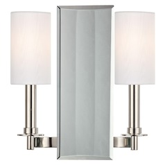 Adams 2 Light Sconce - Polished Nickel